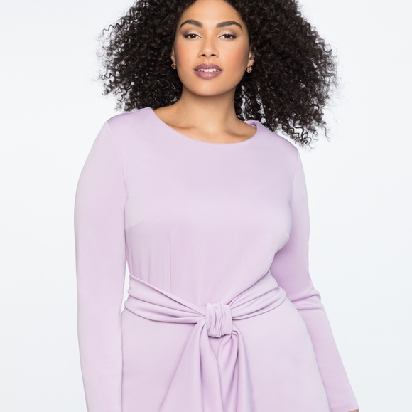 b280532cb8d Eloquii NWT Long Sleeve Scuba Lavendar Dress